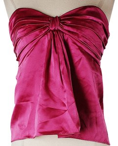 Betsey Johnson Sleeveless Silk Top Fuchsia