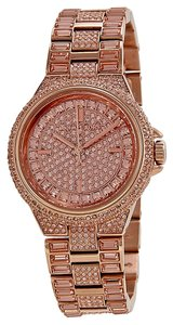 Michael Kors Michael Kors Rose Dial Crystal Pave Rose Gold-tone Ladies Watch