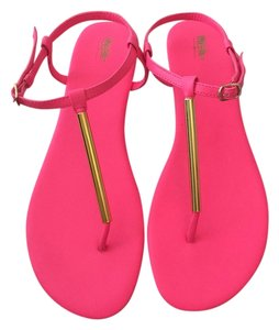 Mossimo Supply Co. Flats Neon Gold Target Sandals