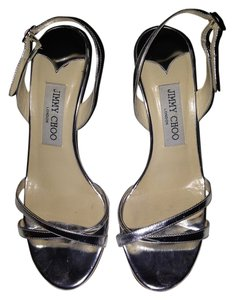 Jimmy Choo Silver Silver Metallic Sandals