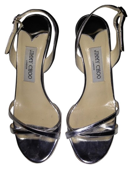 Jimmy Choo Silver Metallic Sandals
