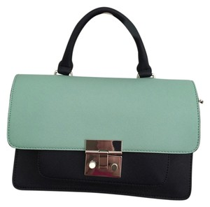 Zara Satchel in Navy/blue