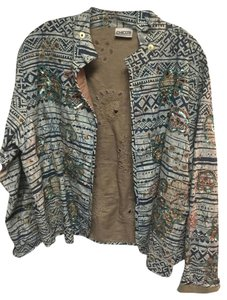Chico's Turquoise Copper Bronze Jacket