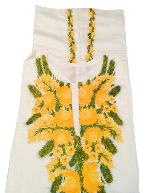 Other Top Cream, yellow and green