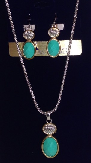 Preload https://img-static.tradesy.com/item/3815077/silver-turquoise-and-gold-coll-set-e-and-n-a1547nt-necklace-0-0-540-540.jpg
