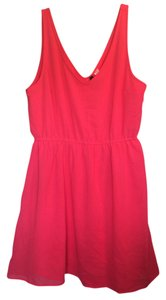 Divided by H&M short dress Hm Neon Pink Summer on Tradesy