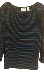 Chico's Stretchy Size 2 Top Green, Blue, Black & Purple
