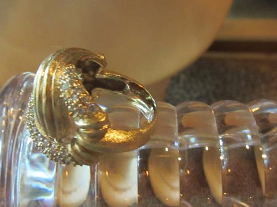 Gilt Gold Shrimp Ring Wrapped In Czs - Sz 7