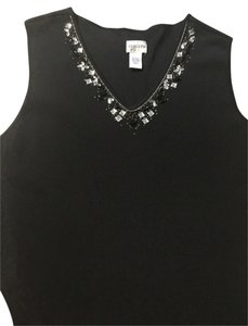 Chico's Top Black And Crystal