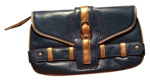 LuLu Blue/ Gold Clutch