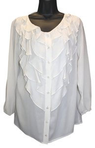 Escada Ruffles Silk Top