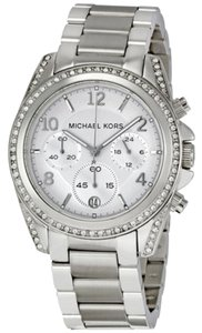 Michael Kors Michael Kors Chronograph Silver Dial Crystal Stainless Steel Ladies Watch