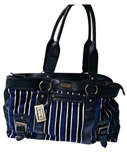 Maggie B. Maggi B Carry All Tote Satchel in Blue Black