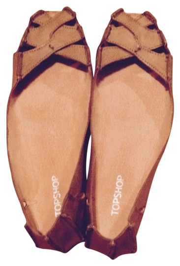 Topshop brown Flats