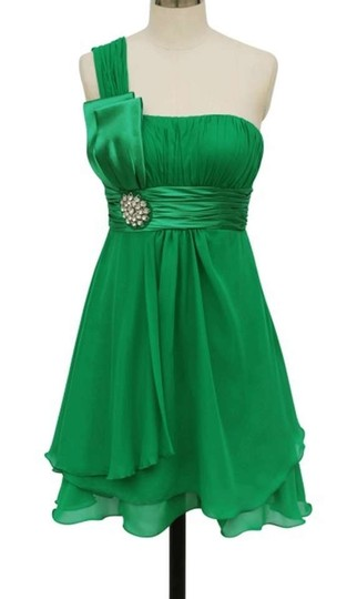 Preload https://item4.tradesy.com/images/green-chiffon-one-shoulder-pleated-w-rhinestones-feminine-bridesmaidmob-dress-size-22-plus-2x-381663-0-0.jpg?width=440&height=440