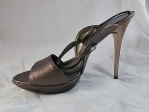Salvatore Ferragamo Rare Stiletto Italy Platinum Platforms