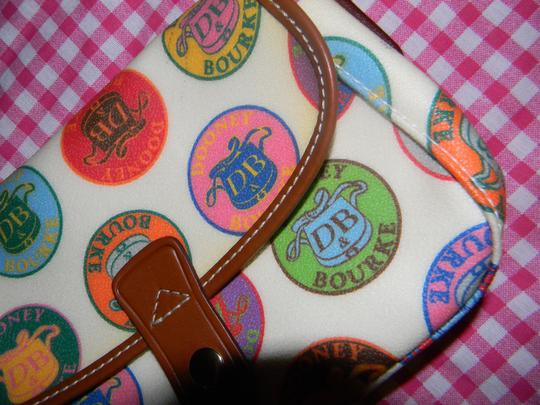 Dooney & Bourke Coated Canvas Logo Mini Db Leather Baguette