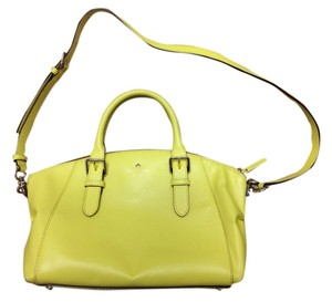 Kate Spade Bright Leather Casual Satchel in Limonium (Yellow)