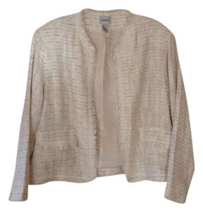 Chico's Ecru with metallic threading Blazer