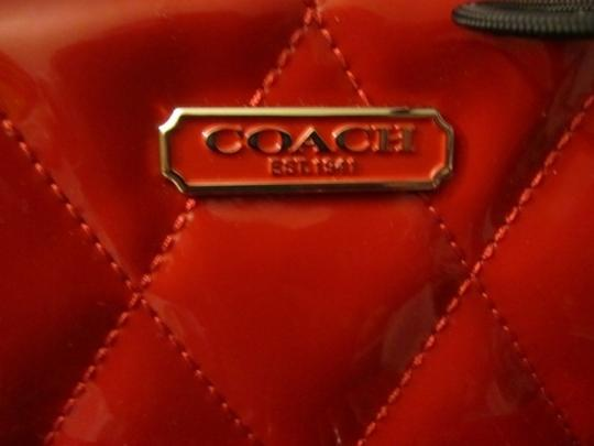 Coach Patent Leather Poppy Hippie Cross Body Bag