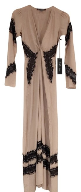 Item - Camel Nude with Black Lace And Casual Maxi Dress Size 2 (XS)