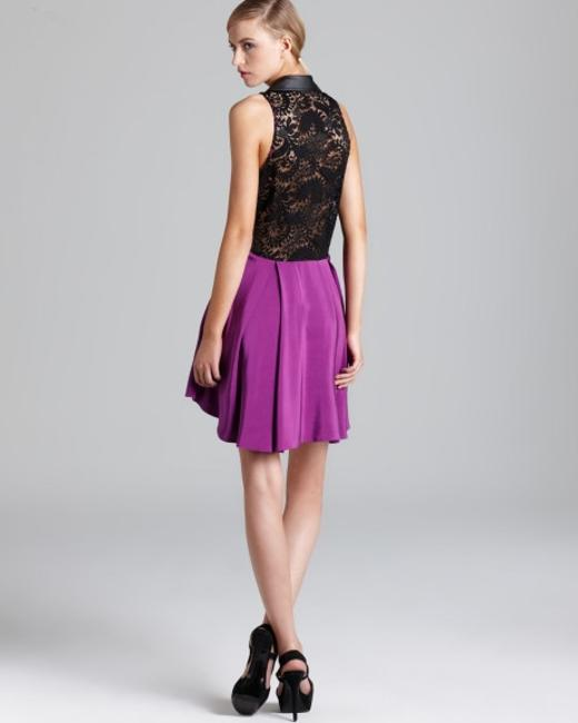 Madison Marcus Silk Sleeveless Lace A-line Dress