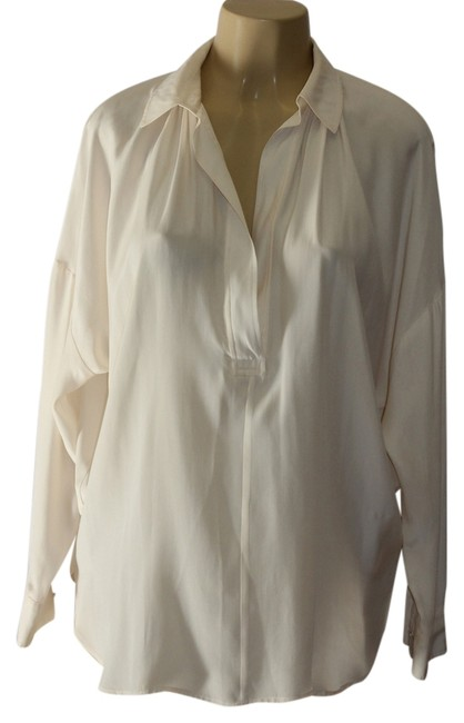 Preload https://img-static.tradesy.com/item/3817627/vince-cream-blouse-size-petite-4-s-0-0-650-650.jpg