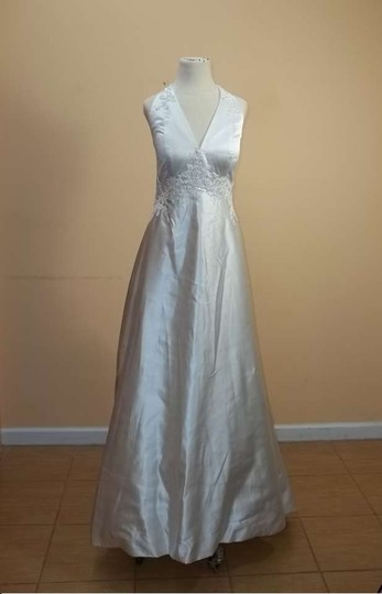 Impression Bridal Ivory Satin 2958 Formal Wedding Dress Size 8 (M)