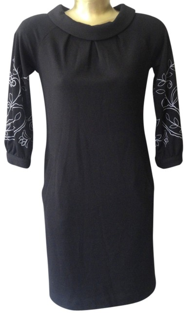 Preload https://img-static.tradesy.com/item/3817678/ellen-tracy-black-with-white-detailing-embroidered-sleeve-afternoon-mid-length-cocktail-dress-size-8-0-1-650-650.jpg
