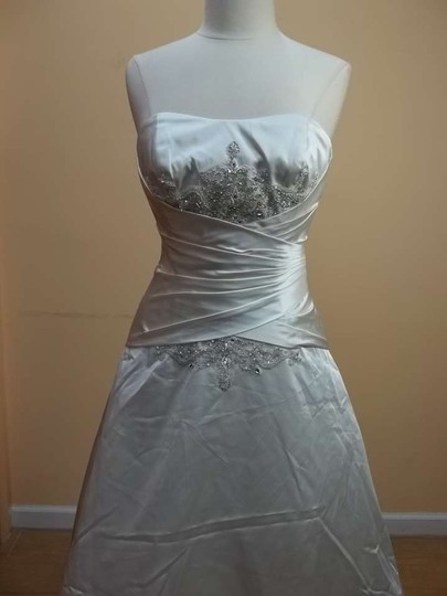 Impression Bridal Ivory Satin 2952 Formal Wedding Dress Size 12 (L)