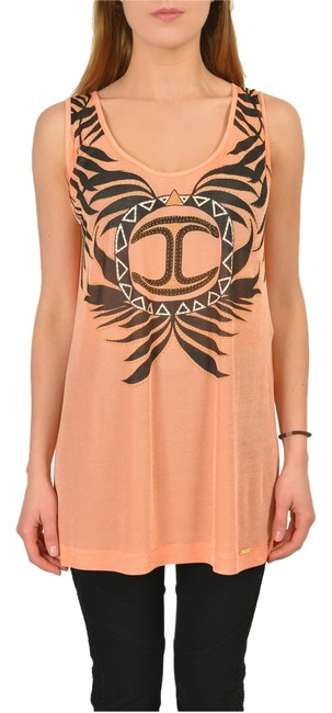 Preload https://img-static.tradesy.com/item/3818353/just-cavalli-orange-graphic-women-s-loose-tunic-size-4-s-0-0-650-650.jpg
