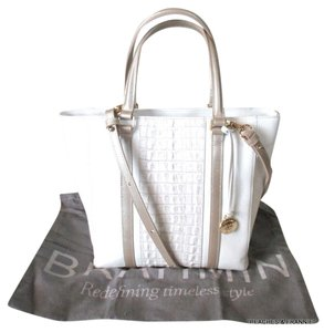 Brahmin Tote in off white