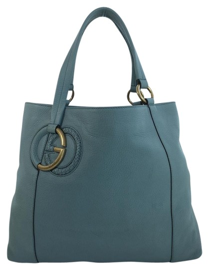 Preload https://item5.tradesy.com/images/gucci-twill-plait-g-blue-leather-tote-3818689-0-4.jpg?width=440&height=440