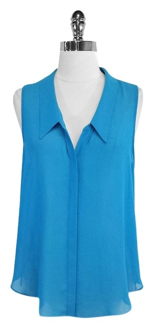 Preload https://img-static.tradesy.com/item/3819016/rory-beca-cerulean-blue-sheer-sleeveless-blouse-size-8-m-0-0-650-650.jpg