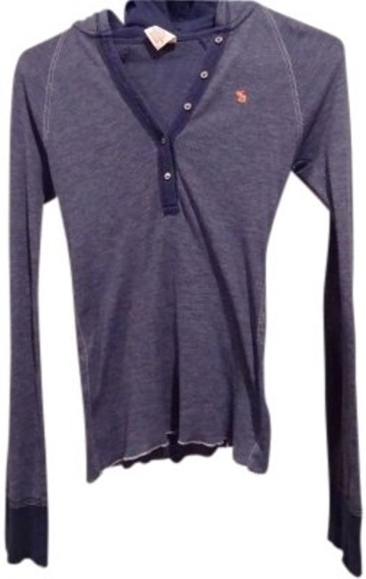 Preload https://item4.tradesy.com/images/abercrombie-and-fitch-blue-henley-style-vintage-long-sleeve-hooded-tee-shirt-size-8-m-38193-0-0.jpg?width=400&height=650