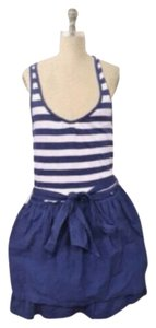 Hollister short dress Navy/White on Tradesy
