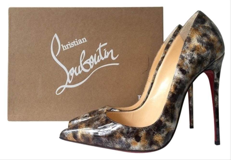 101bdd91d794 Christian Louboutin So Kate 120mm Vernis Mouchete Mouchette Leopard Print  Animal Patent Leather Classic Black Pumps ...