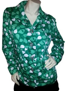 Merona Green Greens & white Jacket