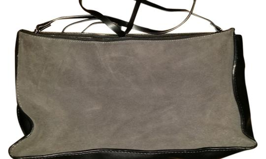 Forever 21 Suede Shoulder GRAY BLACK Clutch