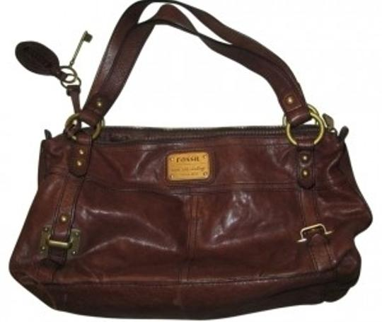 Preload https://item4.tradesy.com/images/fossil-zip-satchel-dark-brown-leather-shoulder-bag-38203-0-0.jpg?width=440&height=440