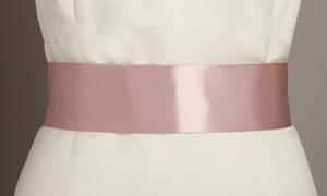 Mariell Blush Color Double Sided French Satin Ribbon 3928sh-bls Sash