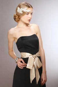 Mariell Champagne Double Sided French Satin Ribbon Sash 3928sh-ch