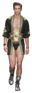 Versace Shorts Gold And Black