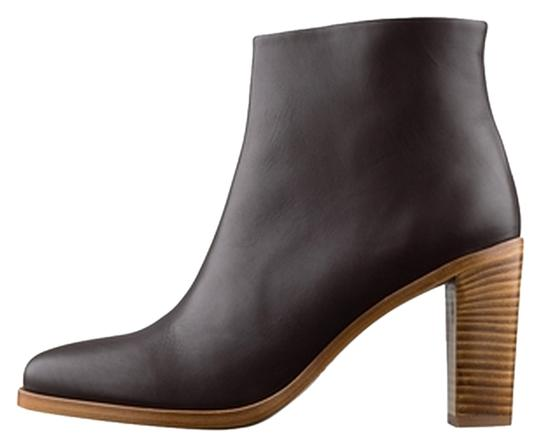 A.P.C. Apc Cordovan Leather Cordovan Leather Stacked Heel Chunky Heel French Understated Understated Chic Burgundy, Dark Brown, Oxblood Boots