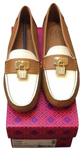 Tory Burch Tan Ivory Flats