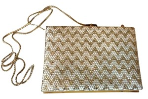 Judith Leiber Authetic Designer Wedding White, Gold Clutch