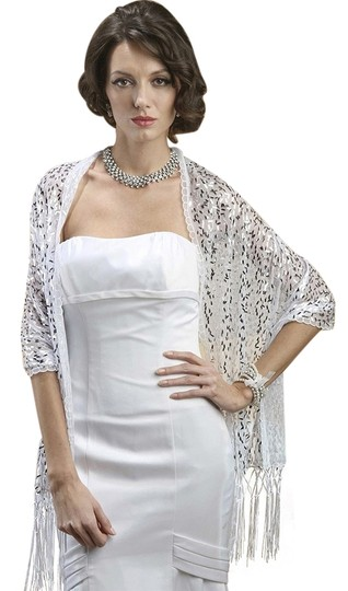Preload https://item4.tradesy.com/images/mariell-white-confetti-sequin-mesh-3256w-scarfwrap-3821113-0-0.jpg?width=440&height=440