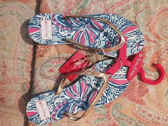 Lilly Pulitzer Summer Floral multi Sandals