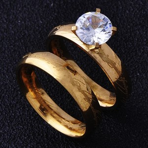 2pc Solitaire Wedding Set Free Shipping