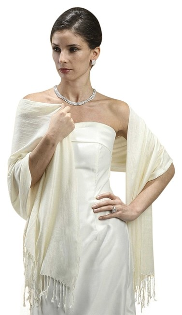 Item - Ivory Pashmina Style Evening Or Shawl 3260w-iv Scarf/Wrap